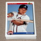 1992 UPPER DECK BASEBALL - Atlanta Braves Team Set + High Number Series