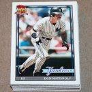 1991 TOPPS BASEBALL - New York Yankees Team Set