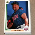 1991 UPPER DECK BASEBALL - Minnesota Twins True Team Set (Low/High/Final)