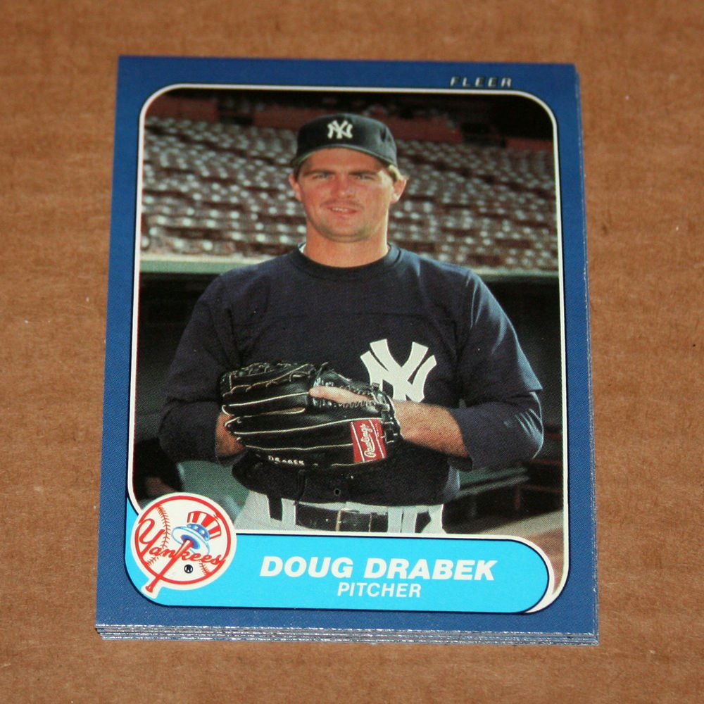 1986 FLEER BASEBALL - New York Yankees Team Set (Update Series Only)