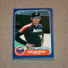 1986 FLEER BASEBALL - Houston Astros Team Set + Update Series