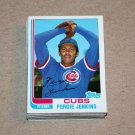 1982 TOPPS BASEBALL - Chicago Cubs Team Set + Traded Series