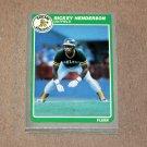 1985 FLEER BASEBALL - Oakland Athletics Team Set + Update Series