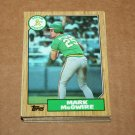 1987 TOPPS BASEBALL - Oakland Athletics Team Set + Traded Series