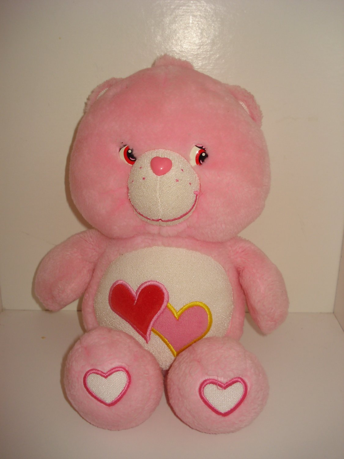 "Care Bears 13"" Pink Glow in the Dark Love A Lot Stuffed Bear Toy"