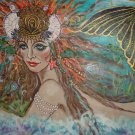 Mermaid 24 x 16 FINE ART CANVAS FRAMED PRINT