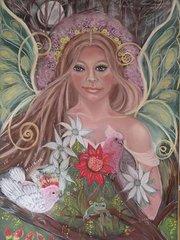 Marlaina 24 x 16 FINE ART CANVAS FRAMED PRINT