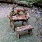 Faery Seamstress Sewing Table and Bench
