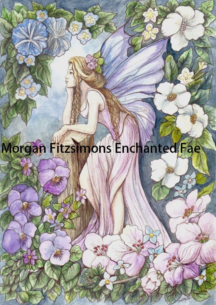 Faery Garden 24 x 16 FINE ART CANVAS FRAMED PRINT