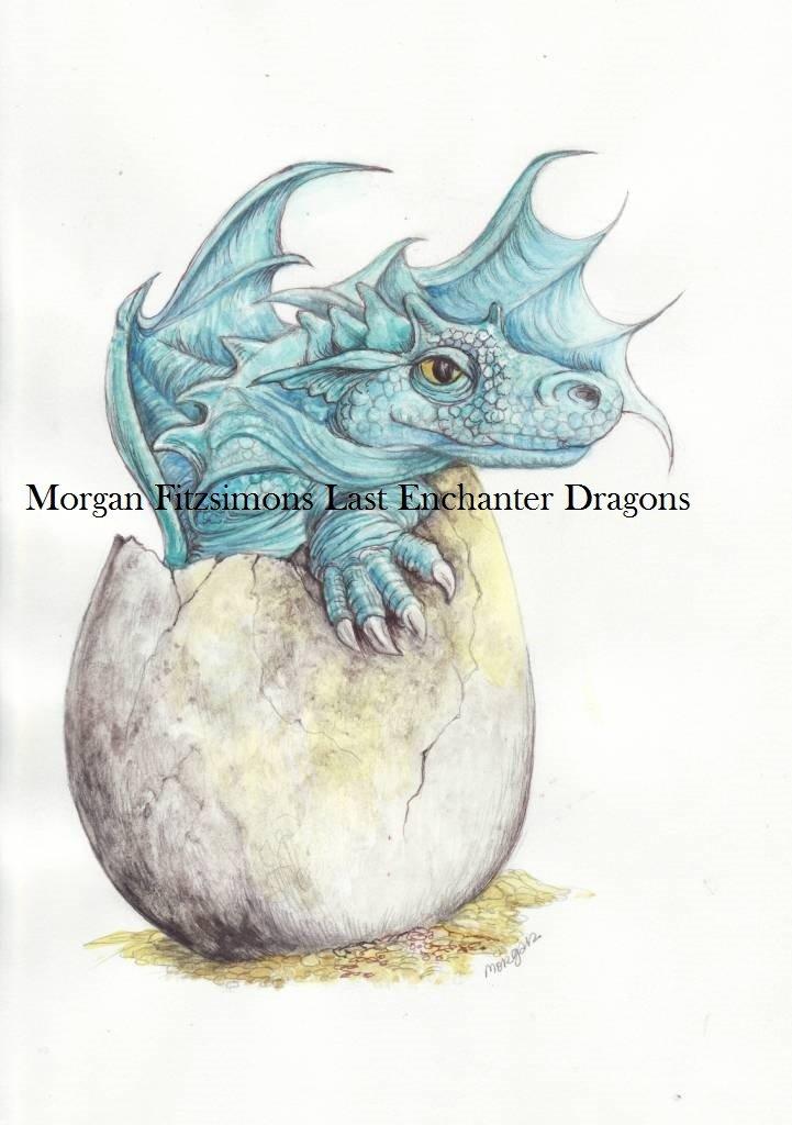 Hello! Baby Dragon 12 x 8 FINE ART CANVAS FRAMED PRINT