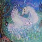 Unicorn 24 x 16 FINE ART CANVAS FRAMED PRINT