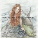 Mermaid 24 x 16 FINE ART CANVAS FRAMED PRINT