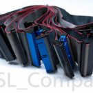 "Lot of 11 IDE PATA Ribbon Cables 40 Pin Female to Female 12"" Length"