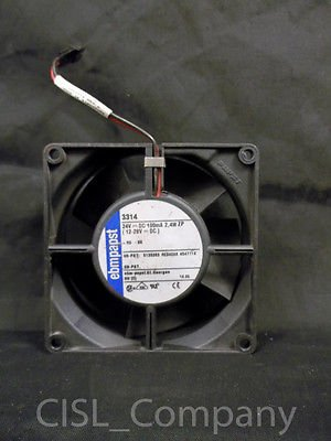 "Ebmpapst 3314 Axial Cooling Fan 24VDC 100mA 2.4W 3-5/8"" X 1-1/4"" Free Shipping"