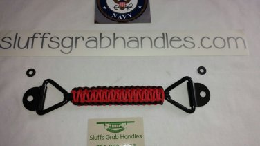 Jeep cherokee (XJ) paracord grab handle Red and Black