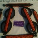 Jeep Wrangler 4 Door Orange & Black Paracord Grab handles