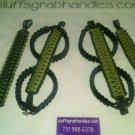 Jeep Wrangler JK, JKU 4 Door Paracord Grab Handles Rescue Green & Black Roll Bar