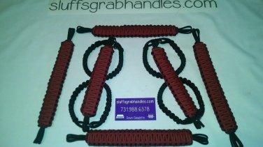 Jeep Wrangler 4 Door Crimson and maroon Paracord Grab handles