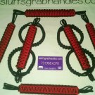 Jeep Wrangler 4 Door Paracord Grab handles Black and Red reverse For Roll Bar