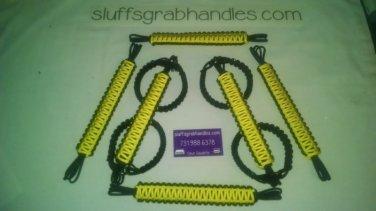 Jeep Wrangler JK, JKU 4 Door Paracord Grab handles yellow and black For Roll Bar
