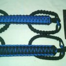 Jeep Wrangler JK, 2 Door Paracord  Grab Handles Blue & Black for roll bar