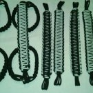 Jeep Wrangler 4 Door Paracord Grab handles silver and black For Roll Bar