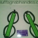 Jeep Wrangler JK Lime greeand black (Gecko) Paracord  Grab Handles