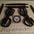 Jeep Wrangler 4 Door Paracord Grab handles Black and Camo reverse For Roll Bar