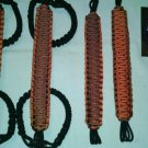 Jeep Wrangler JK, JKU 4 Door Paracord Grab Handles orange and rust Roll Bar