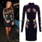 Celeb Black Floral Lace Long Sleeve dress