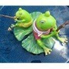 Fishing Frogs Garden Fountain Ornament