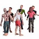 6pcs/set The Walking Dead Zombies Terror Corpse PVC Action Figure  8 inches