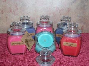 8 oz . Baltimore Style Jar Candle ~ Cranberry Apple Clove ~SALE