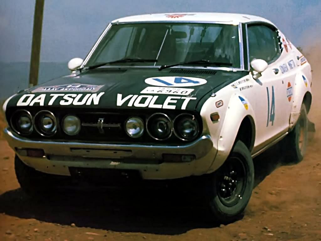 Harry Kallstrom Datsun Violet 1976 Acropolis Rally Winner- Rally Car Photo Print