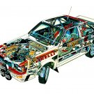 1981 Audi Quattro see-through - Rally Car Photo Print