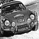 Jean-Claude Andruet Alpine Renault A 110 1973 Monte-Carlo Rally Winner - Rally Car Photo Print