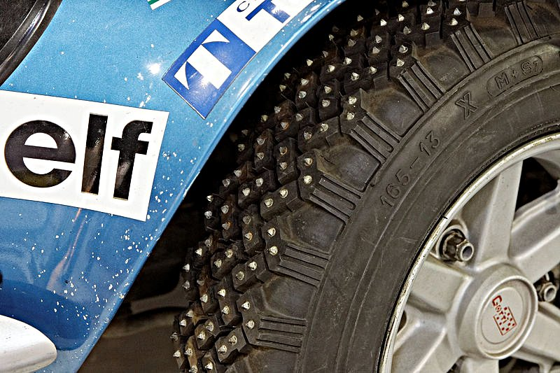 Alpine Renault A 110 Spike Tires - Rally Car Photo Print