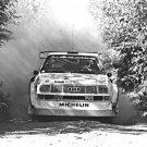 Hannu Mikkola Audi Sport Quattro 1985 Olympus Rally - Rally Car Photo Print