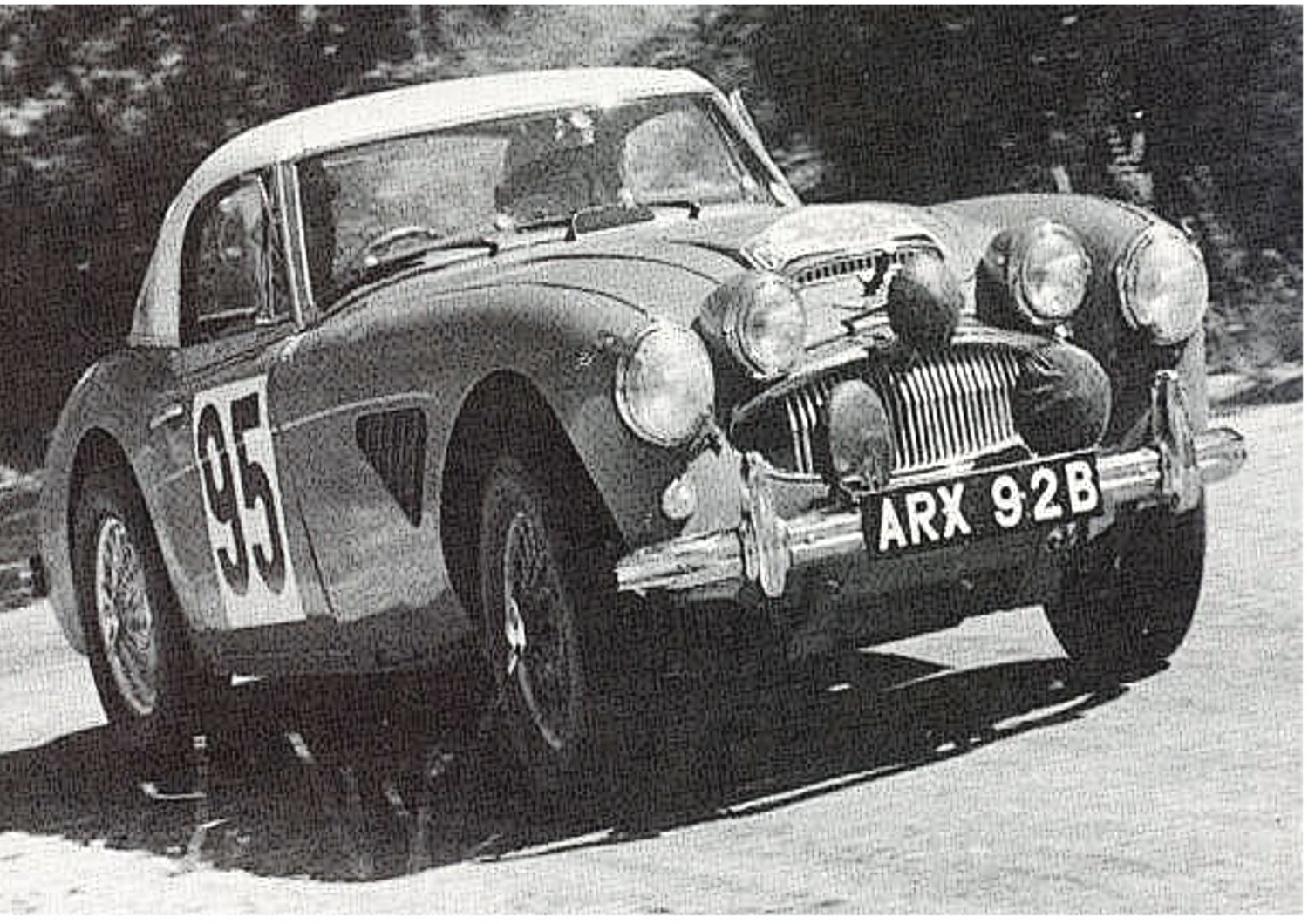 Pat Moss-Ann Wisdom Works Austin Healey 3.0 at 1960 Coupe des Alpes - Rally Car Photo Print