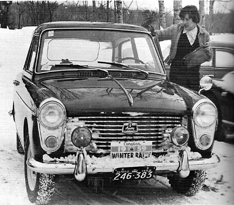 Pat Moss Austin A40 1959 Canadian Winter Rally Winner - Rally Car Photo Print