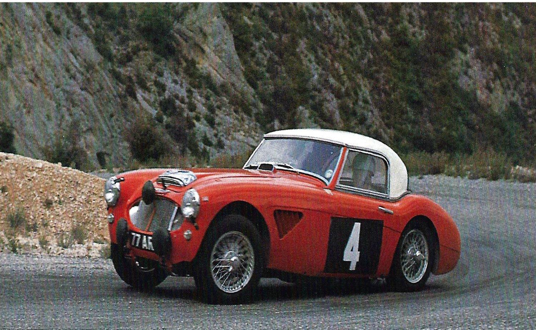 Pat Moss-Pauline Mayman Austin Healey 3.0 at 1962 Alpine Rally - Rally Car Photo Print