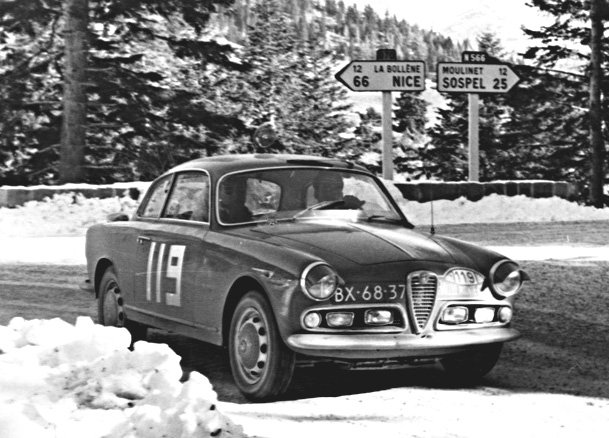Alfa Romeo Giulietta Sprint 1962 Monte-Carlo Rally - Rally Car Photo Print