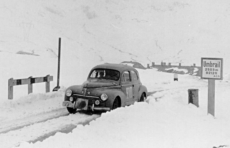 Barbier-Rastif Peugeot 203 Coupé 1954 Coupe des Alpes - Rally Car Photo Print