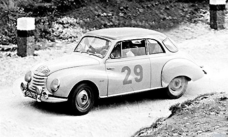 DKW 3-6 racing at 1954 Monte-Carlo Rally - Rally Car Photo Print