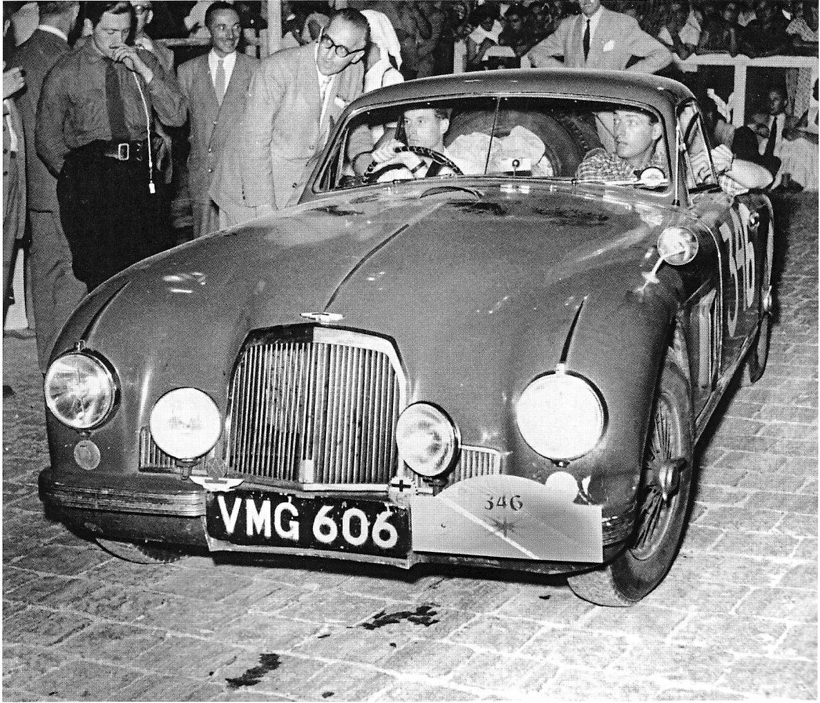 Godsall  Aston Martin DB2 at 1952 Coupe des Alpes - Rally Car Photo Print