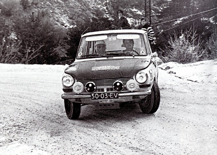 Laurent-Marche Daf 55 Marathon at 1969 Monte-Carlo Rally - Rally Car Photo Print