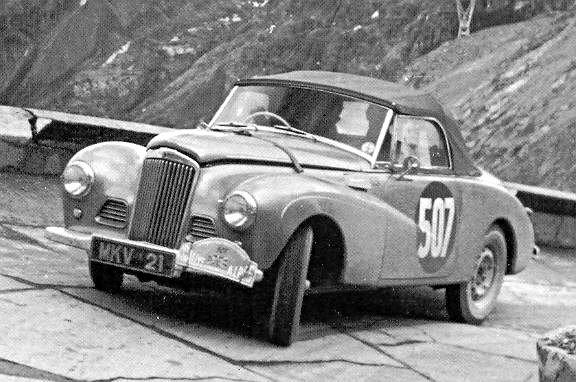 Stirling Moss-John Cutts Sumbeam Alpine 1953 Coupe des Alpes - Rally Car Photo Print