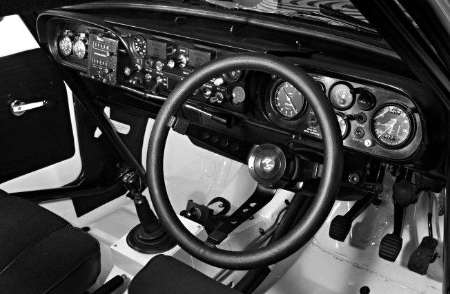 1970 Works Ford Escort MkI Dashboard  - Rally Car Photo Print
