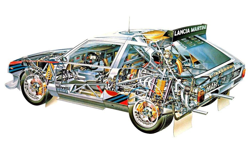 Lancia Delta S4 See-Through - Rally Car Photo Print