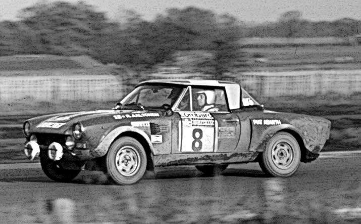 Rauno Aaltonen Fiat 124 Abarth Lombard R.A.C. Rally 1974 - Rally Car Photo Print